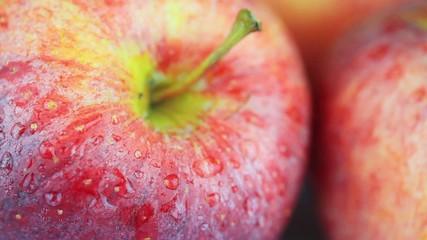 Ripe apples closeup