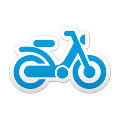 Pegatina simbolo ciclomotor