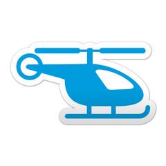 Pegatina simbolo helicoptero