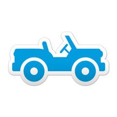 Pegatina simbolo jeep