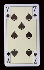 Spielkarten der Ladys - Pik Sieben