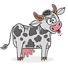 Crazy cow.