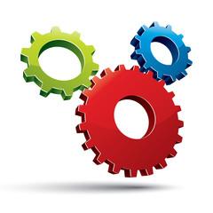 Three gears system.
