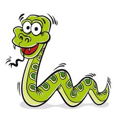 Green snake cartoon.