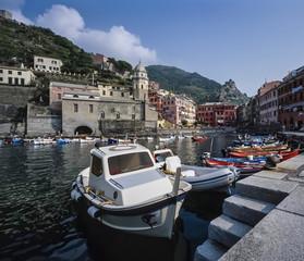 Italy, Liguria, Le Cinque Terre, Vernazza - FILM SCAN