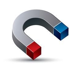 Magnet vector illustration.