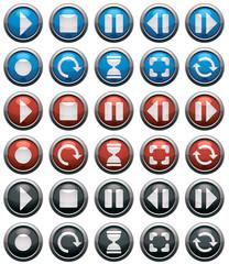 Media buttons vector.