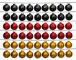 canvas print picture - Christbaumkugeln in den Farben der Deutschen Flagge