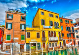 Beautiful buildings at Venice Italy. HDR processed