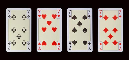 Spielkarten der Ladys - SIEBEN