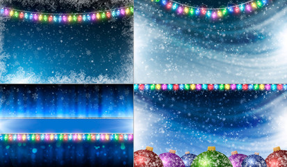 Collection of Christmas backgrounds