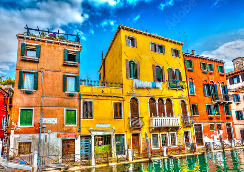 Beautiful buildings at Venice Italy. HDR processed - 73171352