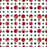 Fototapeta Red dots seamless pattern.