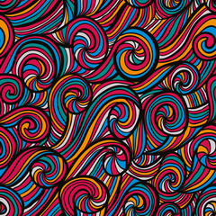 Funky colorful seamless pattern.