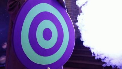 Target in smoke