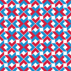 Colorful ethnic geometric art seamless pattern, vector artificia