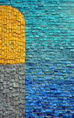 abstract background with mosaic wall