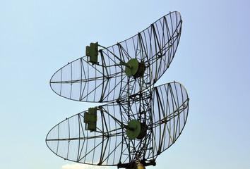 military radar against the sky