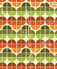 Ornamental worn textile geometric seamless pattern, vector natur