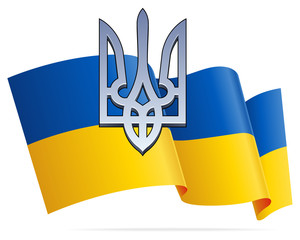 Ukraininan Flag and Trident