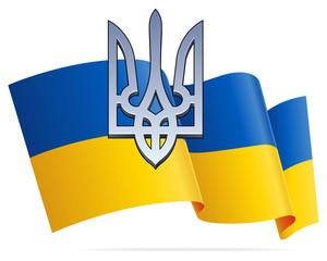 Ukraininan Flag and Trident