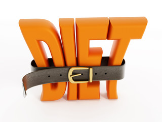 Belt and diet word