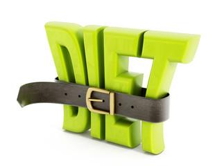 Belt and diet word