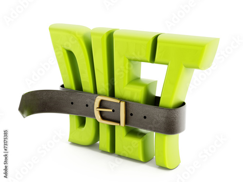canvas print picture Belt and diet word