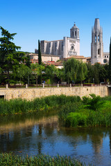Collegiate Church and Gothic Cathedral in Girona