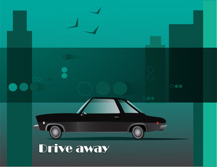 "Vector illustration ""Drive away"""