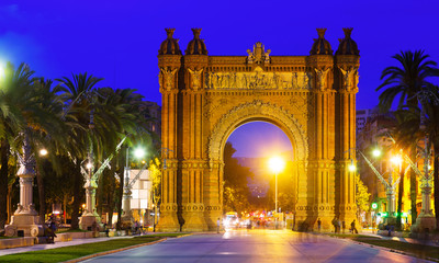 Arco de Triunfo in night