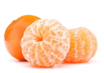 Peeled tangerine or mandarin fruit
