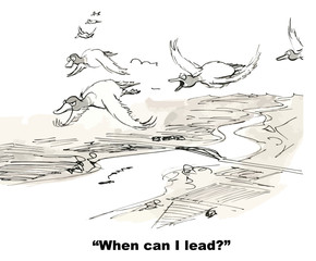 """""""When can I lead?"""""""