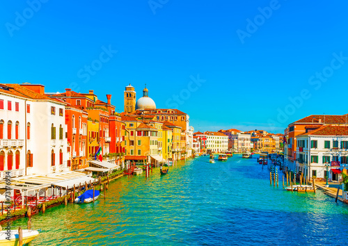 View of the Main Canal at Venice Italy - 73176934