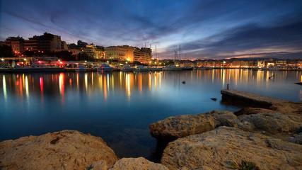 Evening in Zea marina, Piraeus, Athens.