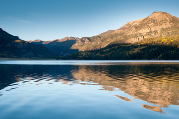 Sunset at William's lake,colorado
