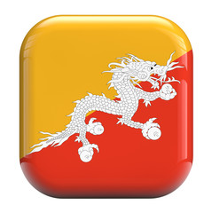 Bhutan dragon flag icon image
