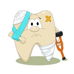 Diseased tooth
