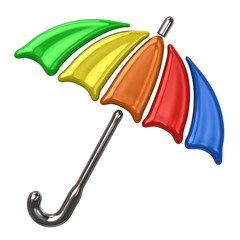 Colorful umbrella icon