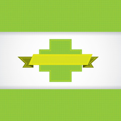 Abstract green grid medical background