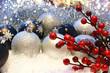 canvas print picture - Christmas decoration background