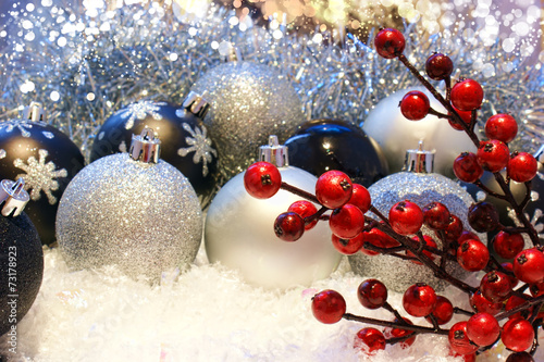 canvas print picture Christmas decoration background