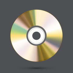 Vector modern disc on gray background.