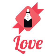 Love illustration over white color  background