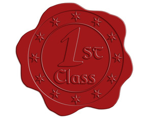 First Class Red Wax Seal