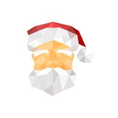 Illustration of santa claus origami portrait