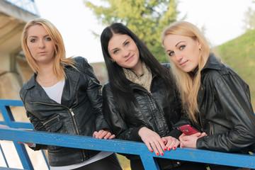 Three Beautiful Women Friends