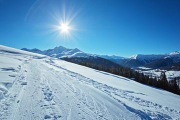 Wanderweg auf der Clavadeler Alp – Schweiz