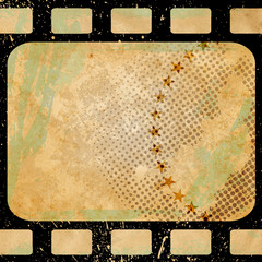 Grunge background with photoframe.