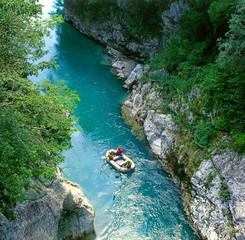 The Soca river, Triglav national park, Slovenia, Europe